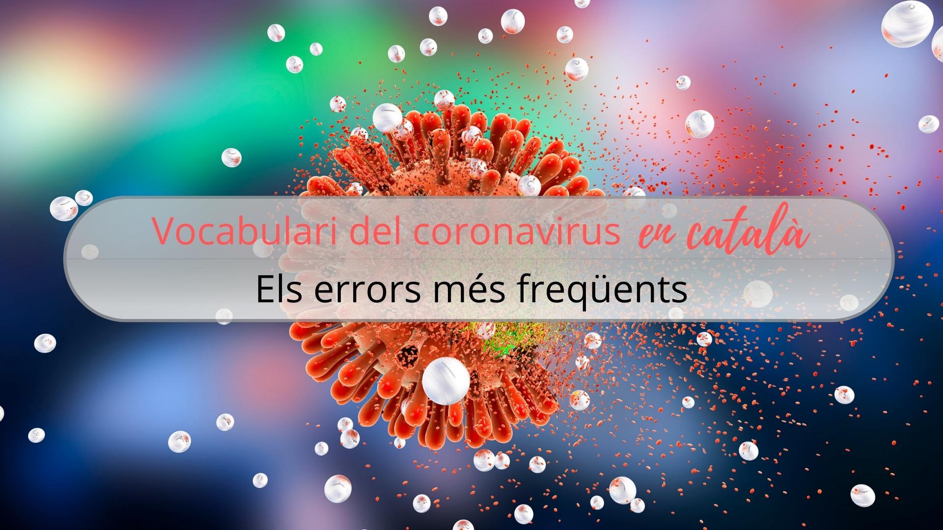 vocabulari del coronavirus al català